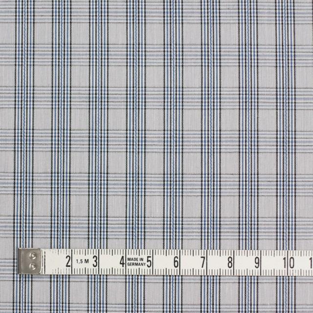 コットン×チェック(ブルー&グレー)×ブロード イメージ4