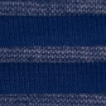 コットン×ボーダー(ネイビー)×天竺ニット サムネイル1