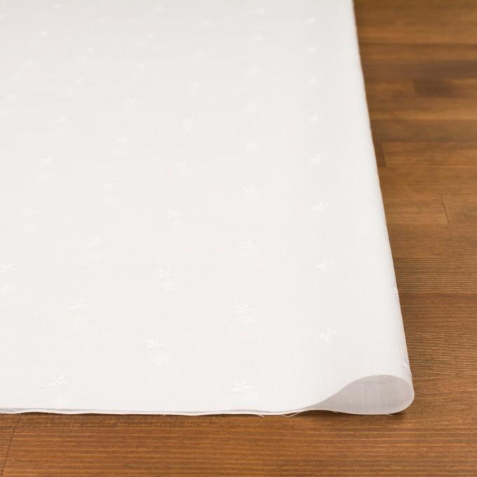 コットン×ボーダー(オフホワイト)×ローン刺繍No1_全2色 イメージ3