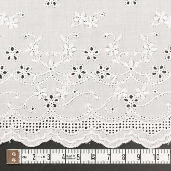コットン×ボーダー(オフホワイト)×ローン刺繍No1_全2色 サムネイル4