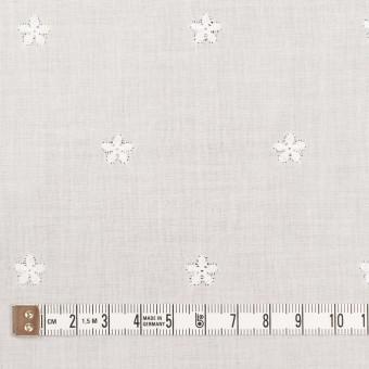 コットン×ボーダー(オフホワイト)×ローン刺繍No1_全2色 サムネイル6