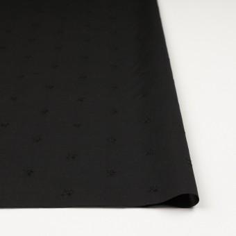コットン×ボーダー(ブラック)×ローン刺繍No1_全2色 サムネイル3