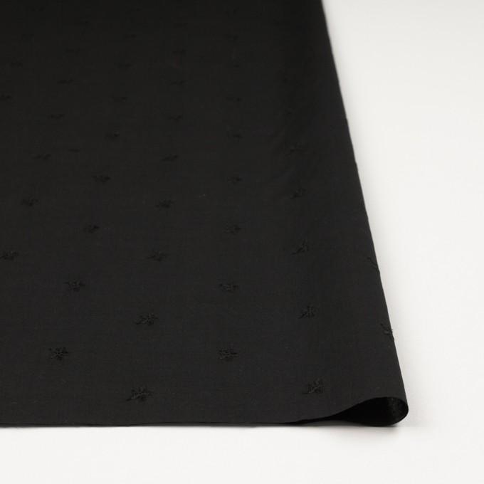 コットン×ボーダー(ブラック)×ローン刺繍No1_全2色 イメージ3