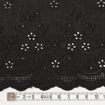 コットン×ボーダー(ブラック)×ローン刺繍No1_全2色 サムネイル4