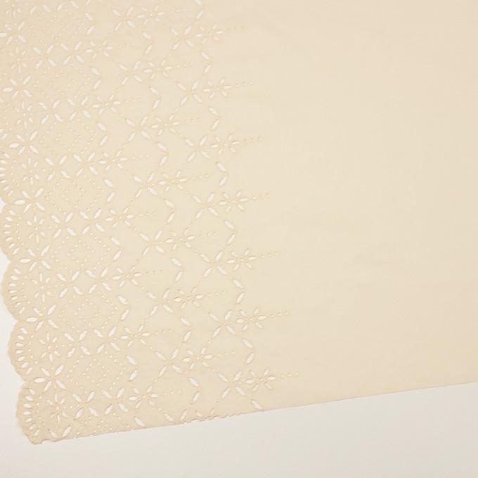 コットン×ボーダー(クリーム)×ローン刺繍No2_全4色 イメージ2