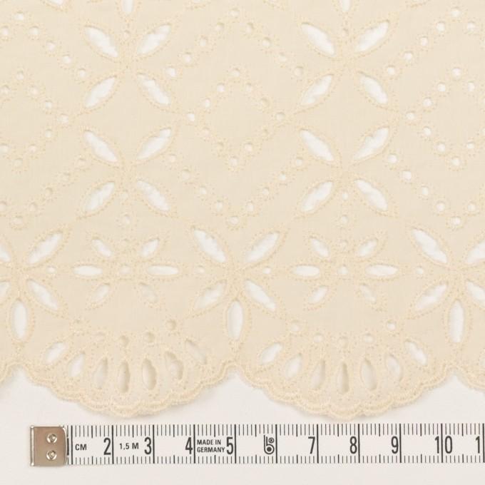 コットン×ボーダー(クリーム)×ローン刺繍No2_全4色 イメージ4