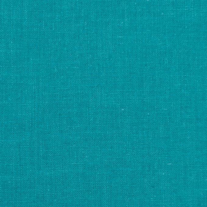 リネン&コットン×無地(アクアブルー)×シーチング_全36色 イメージ1