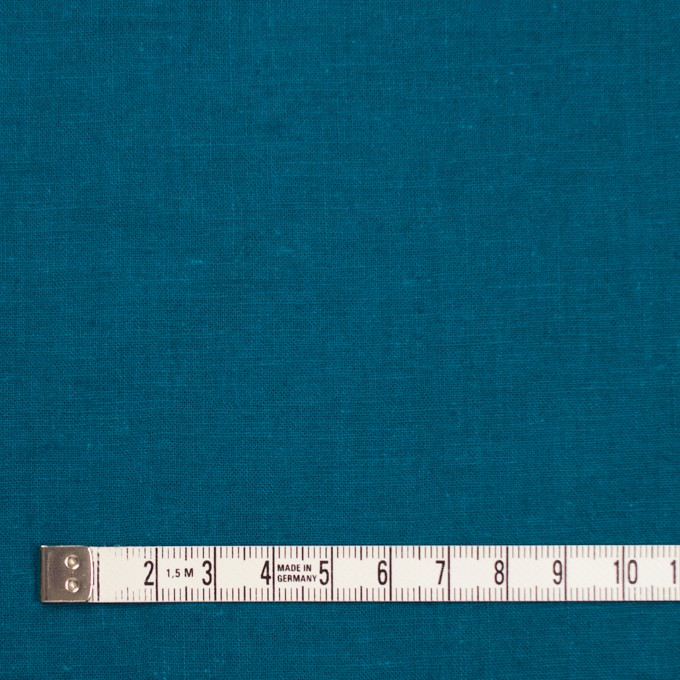 リネン&コットン×無地(ターコイズブルー)×シーチング_全36色 イメージ4