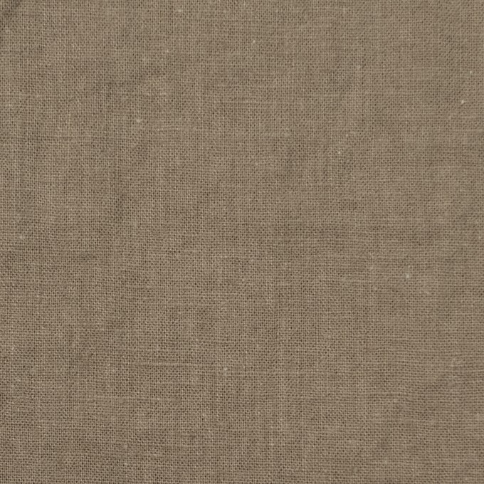 リネン&コットン×無地(カーキベージュ)×シーチング_全36色 イメージ1