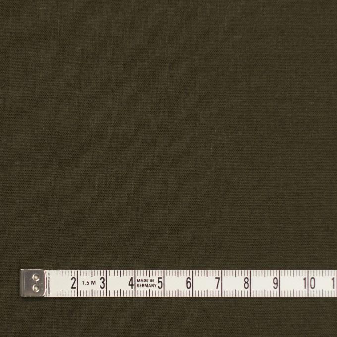 リネン&コットン×無地(カーキグリーン)×シーチング_全36色 イメージ4