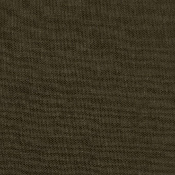 リネン&コットン×無地(カーキグリーン)×シーチング_全36色 イメージ1