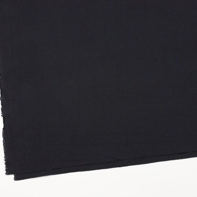 リネン&コットン×無地(ブラック)×シーチング_全36色 イメージ2