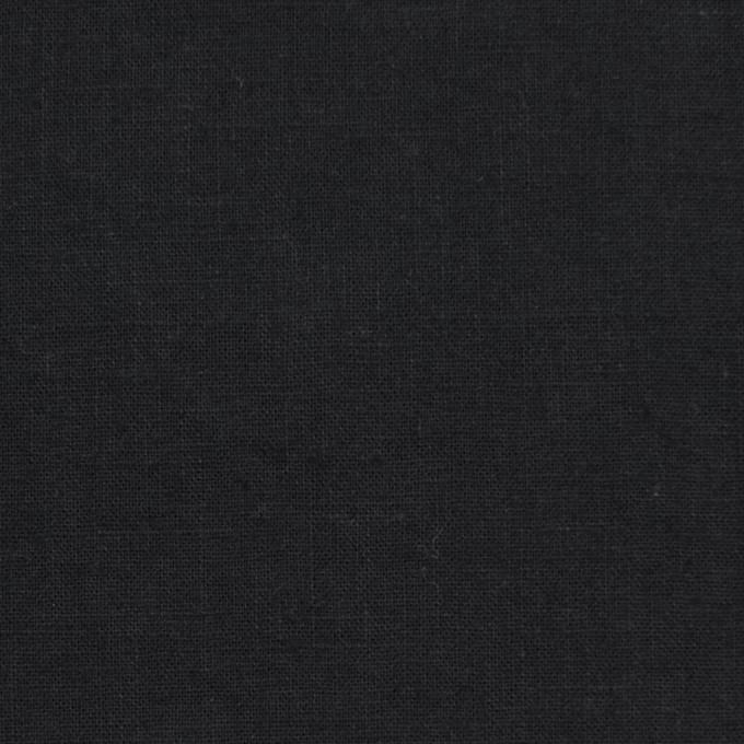 リネン&コットン×無地(ブラック)×シーチング_全36色 イメージ1