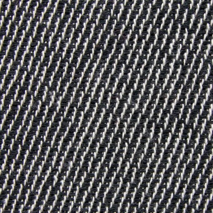 コットン&ポリエステル×斜め縞(ブラック&ブラック)×かわり織_全2色 イメージ1