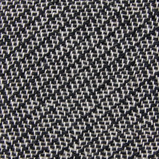 コットン&ポリエステル×斜め縞(ブラック&ホワイト)×かわり織_全2色 イメージ1