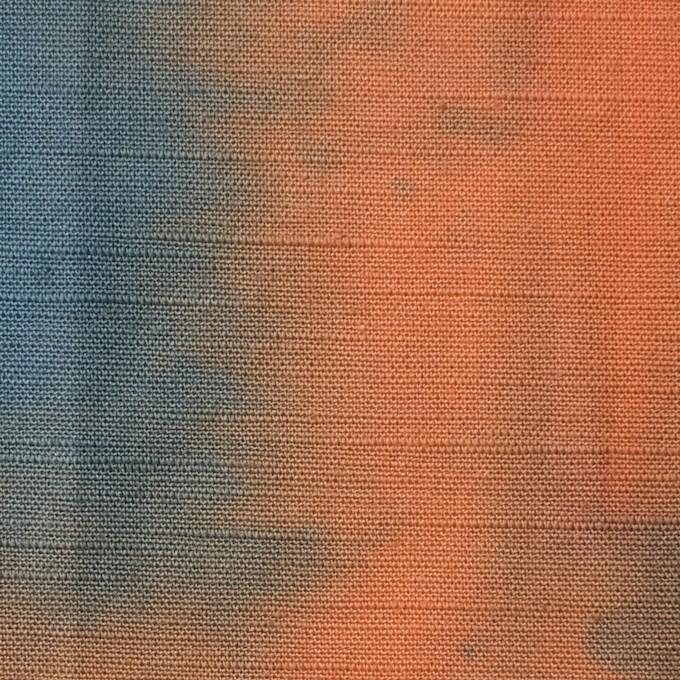 コットン×グラデーション(レンガ)×シーチング_全2色 イメージ1