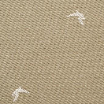 コットン×カモメ(カーキベージュ)×デニムジャガード_全2色 サムネイル1