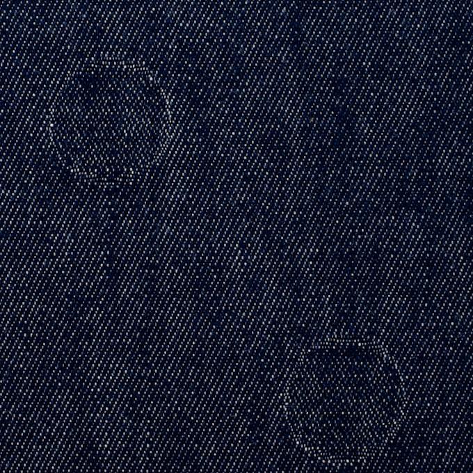 コットン×サークル(インディゴ)×デニムジャガード イメージ1