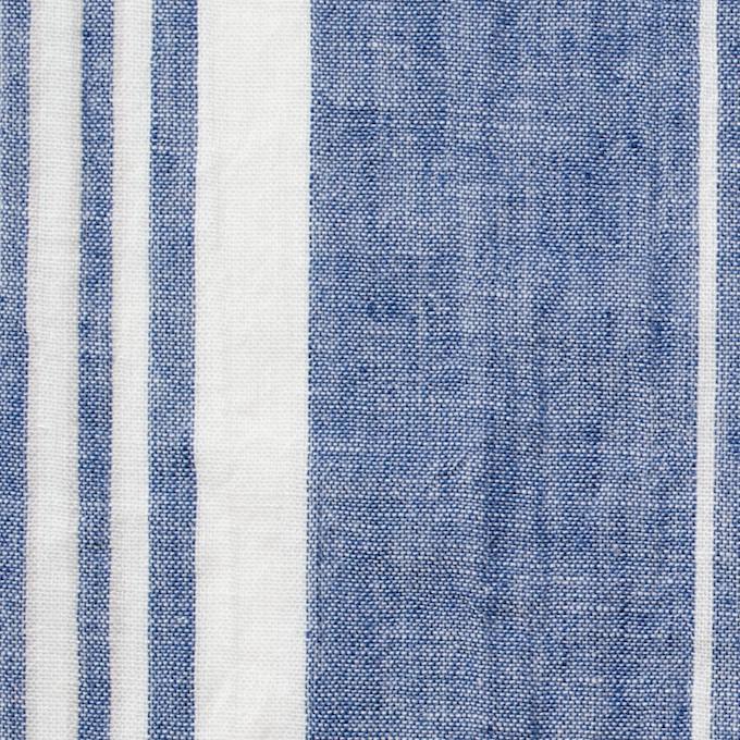 コットン&リネン×ストライプ(ブルー&ライトグレー)×薄シーチングワッシャー_全5柄 イメージ1