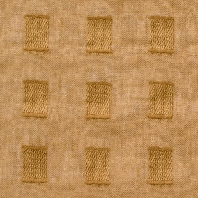 コットン×スクエア(マスタード)×ボイルジャガード_全6色 イメージ1