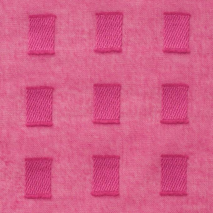 コットン×スクエア(チェリーピンク)×ボイルジャガード_全6色 イメージ1