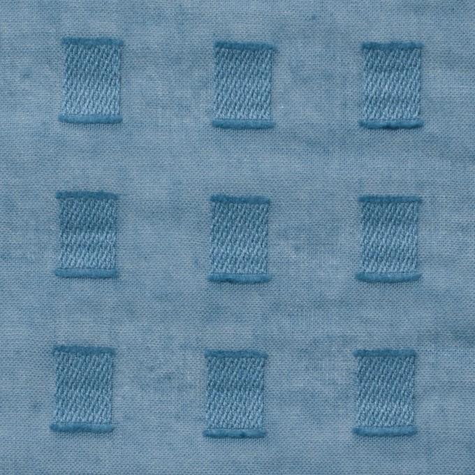 コットン×スクエア(グレイッシュブルー)×ボイルジャガード_全6色 イメージ1
