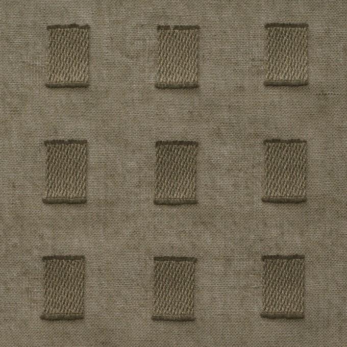 コットン×スクエア(カーキグリーン)×ボイルジャガード_全6色 イメージ1