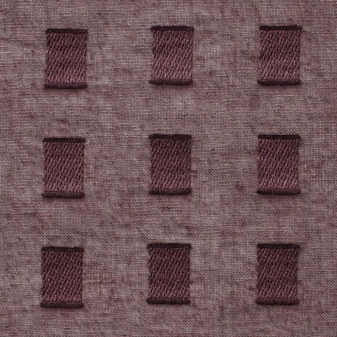 コットン×スクエア(ココア)×ボイルジャガード_全6色 イメージ1