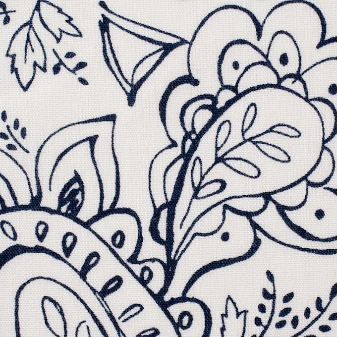 コットン&リネン×ペイズリー(オフホワイト)×シーチング_全2色 イメージ1