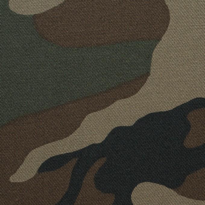 コットン×迷彩(カーキミックス)×チノクロス イメージ1