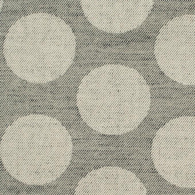 コットン×水玉(ベージュ&チャコールグレー)×サージジャガード イメージ1