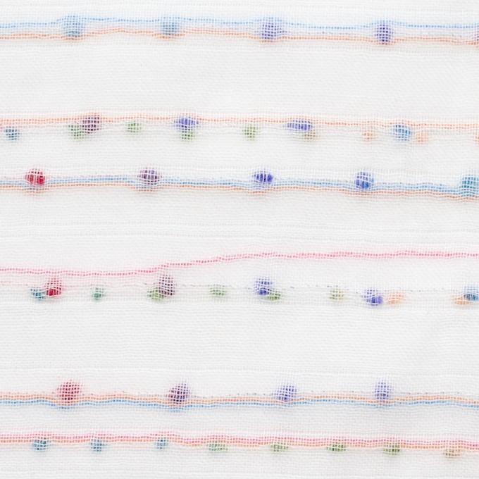 コットン&ポリエステル×ボーダー(ピンク&オレンジ)×Wガーゼ_全4色 イメージ1