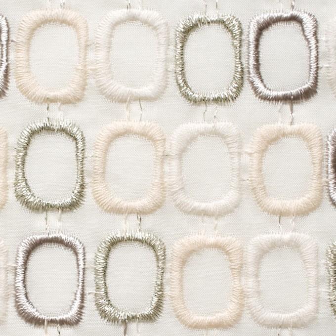 コットン×スクエア(オフホワイト)×ボイル刺繍_全2色 イメージ1