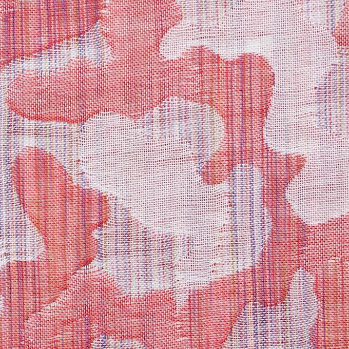 コットン×幾何学模様(レッド)×二重織ジャガード_全2色 イメージ1