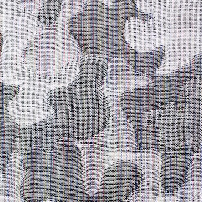 コットン×幾何学模様(グレー)×二重織ジャガード_全2色 イメージ1