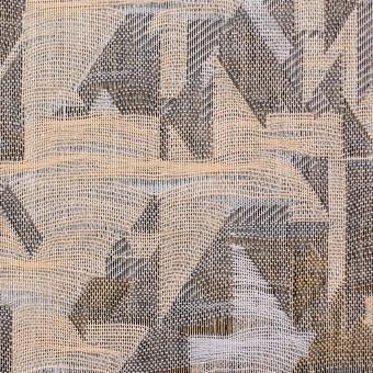 コットン×幾何学模様(モカミックス)×二重織ジャガード サムネイル1