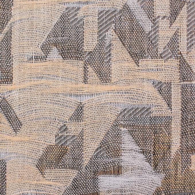 コットン×幾何学模様(モカミックス)×二重織ジャガード イメージ1