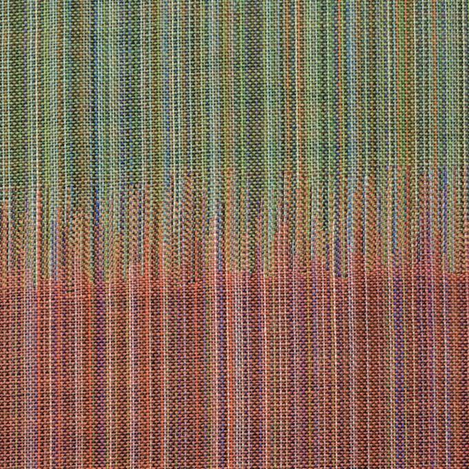 コットン×幾何学模様(オレンジ&グリーン)×二重織ジャガード イメージ1