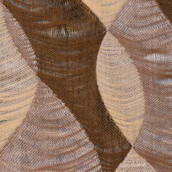 コットン×幾何学模様(ブラウンミックス)×二重織ジャガード サムネイル1