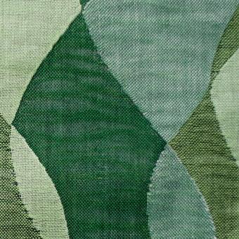 コットン×幾何学模様(グリーンミックス)×二重織ジャガード サムネイル1