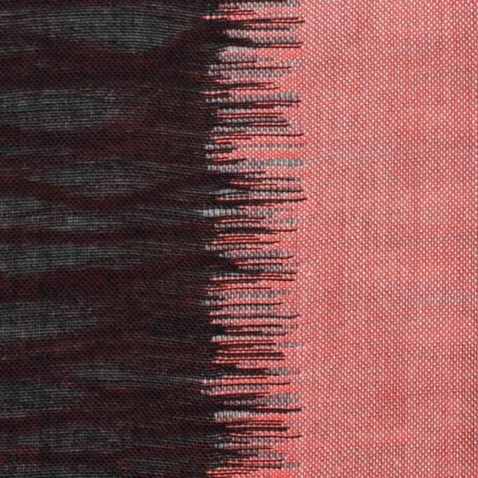 コットン×幾何学模様(レッド&ブラック)×二重織ジャガード イメージ1