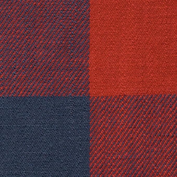 コットン×チェック(レッド&アイアンブルー)×ビエラ_全2色 イメージ1