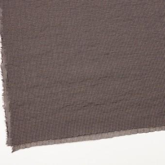 コットン&ポリウレタン×チェック(モカブラウン&ネイビー)×ボイルシャーリング_全3色 サムネイル2