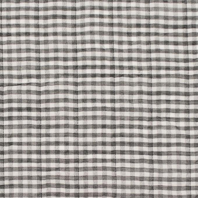 コットン&ポリウレタン×チェック(グレー&ブラック)×ボイルシャーリング_全3色 イメージ1