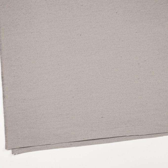 コットン&ジュート×無地(ライトグレー)×厚サージ_全3色 イメージ2