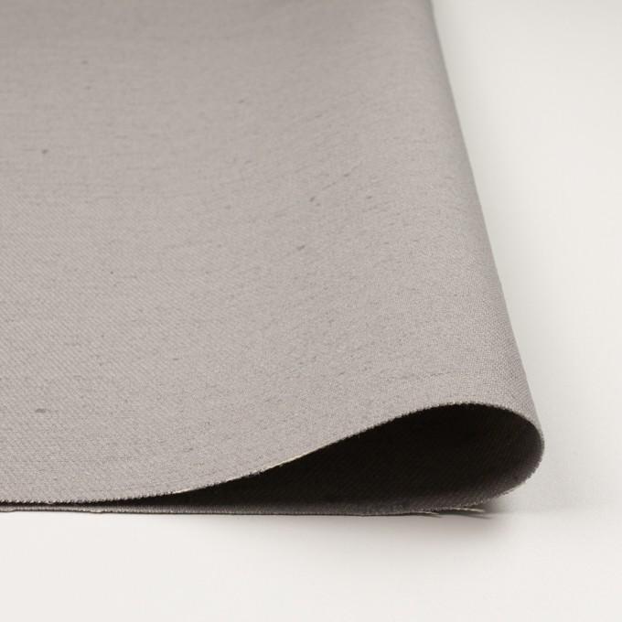コットン&ジュート×無地(ライトグレー)×厚サージ_全3色 イメージ3