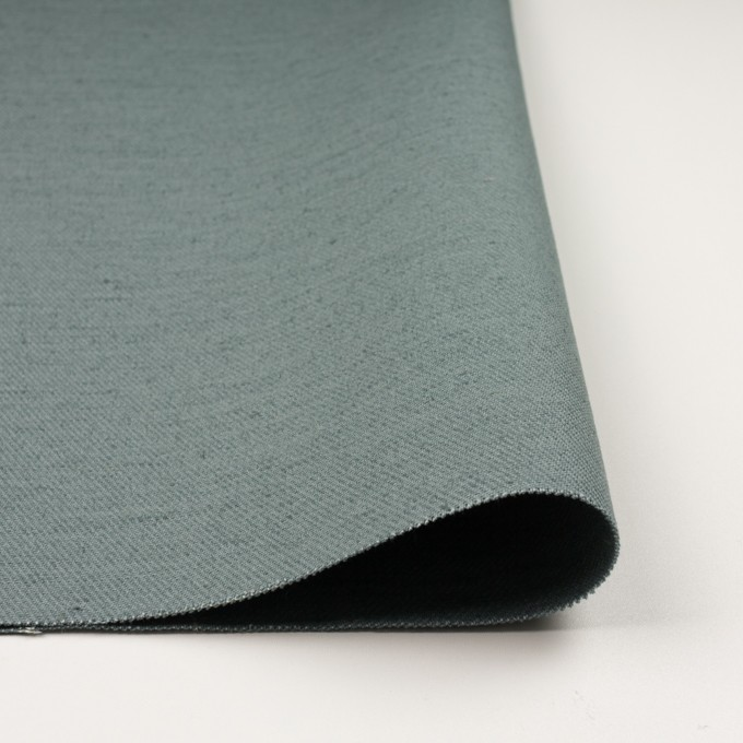 コットン&ジュート×無地(スレートグリーン)×厚サージ_全3色 イメージ3