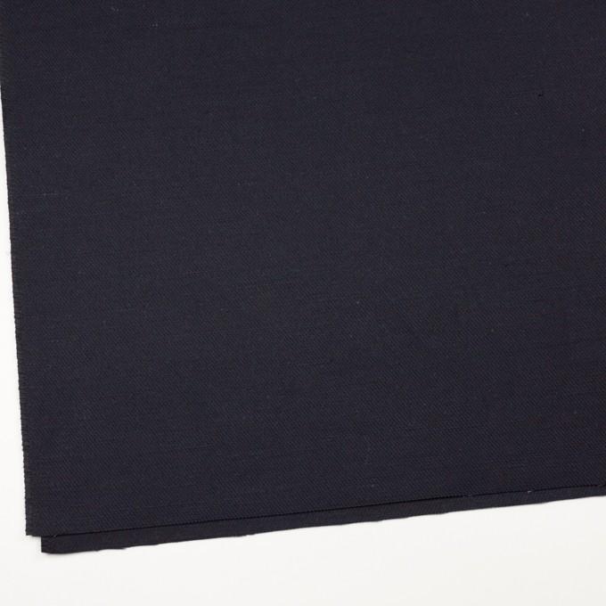 コットン&ジュート×無地(ダークネイビー)×厚サージ_全3色 イメージ2