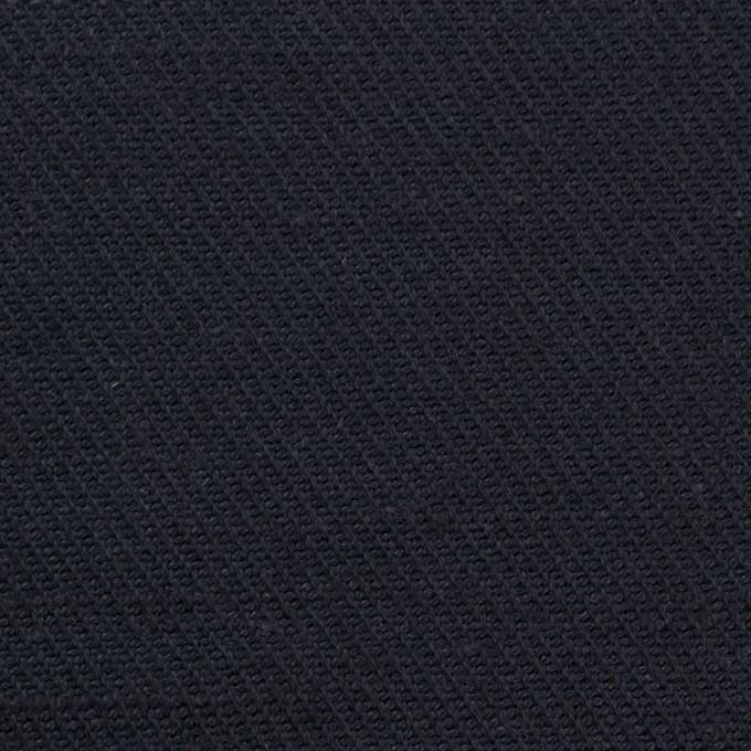 コットン&ジュート×無地(ダークネイビー)×厚サージ_全3色 イメージ1