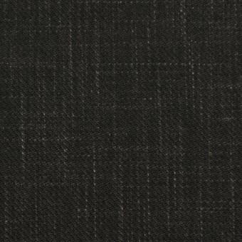 コットン&リネン×無地(チャコールブラック)×スラブサージ サムネイル1